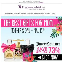 [FragranceNet] Up to 70% OFF gifts for every mom