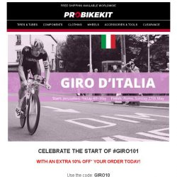 [probikekit] Get an EXTRA 10% off site to celebrate the start of #GIRO101!