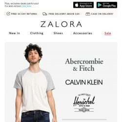 [Zalora] Up to 50% off A&F, Herschel and Calvin Klein!