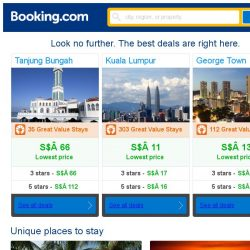 [Booking.com] Tanjung Bungah, Kuala Lumpur, or George Town? Get great deals, wherever you want to go