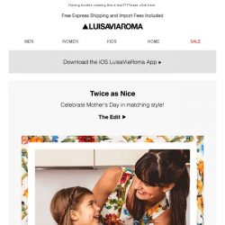 [LUISAVIAROMA] Mother's Day: Match your Mini me