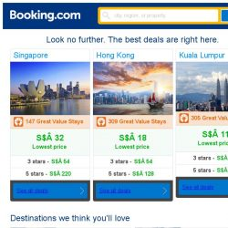 [Booking.com] Singapore, Hong Kong and Kuala Lumpur -- great last-minute deals as low as S$ 11!