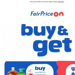 [Fairprice] Happy Monday! Get free gift with purchase.