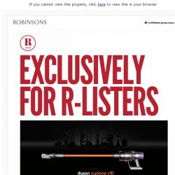 [Robinsons]  Exclusively for R-Listers!