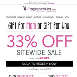 [FragranceNet] 33% Off Sitewide! [1 Day ONLY]