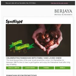 [Berjaya Hotels & Resorts EDm] Ushering in the holy month of Ramadhan