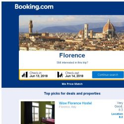 [Booking.com] Prices in Florence are dropping for your dates!