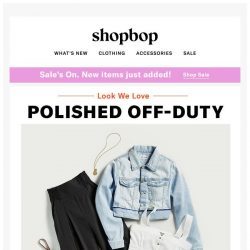 [Shopbop] Nail this foolproof weekend outfit