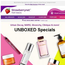[StrawberryNet] Unboxed Beauty in HOT Demand Up to 70% Off!