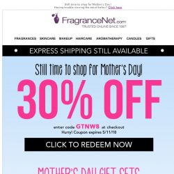 [FragranceNet] 30% OFF + Express Shipping still available