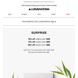 [LUISAVIAROMA] 3 Days Only: Up to 20% off new collections