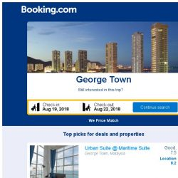 [Booking.com] Deals in George Town from S$ 41