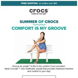 [Crocs Singapore] Groove with Comfort, Groove with Crocs🎵 Check out Crocs' new Swiftwater Collection NOW🎶