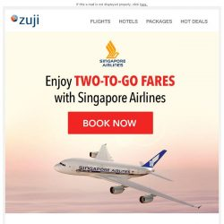 [Zuji] BQ.sg: Two-To-Go Singapore Airlines flight offers fr $214
