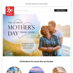 [Kaligo] , treat your mom with the perfect getaway this Mother's Day!