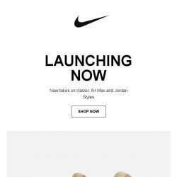 [Nike] Launching Now: Air Max and Jordan