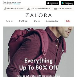 [Zalora] Looking for the right outfit? Here's everything up to 50% off!