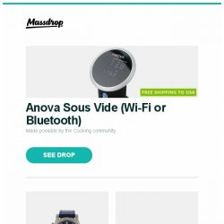 [Massdrop] Anova Sous Vide (Wi-Fi or Bluetooth), Ralph Lauren Sporting World Time Automatic Watch, ExOfficio Sport Mesh Boxer Briefs (2-Pack) and more...