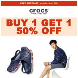 [Crocs Singapore] 【SPECIAL DEAL】 Buy 1, Get 1 50% OFF☑️ at Crocs NOW👍