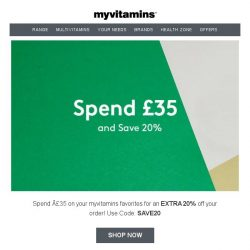 [MyVitamins] Spend & Save