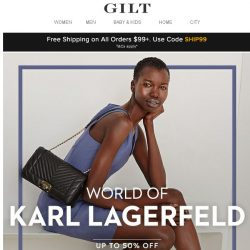 [Gilt] Up to 50% Off: Karl Lagerfeld