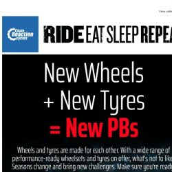 [Chain Reaction Cycles] New Wheels + New Tyres = New PBs
