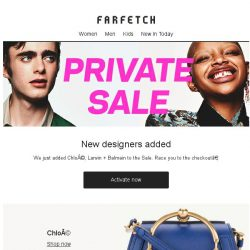 [Farfetch] New to Private Sale: Chloé, Lanvin and Balmain