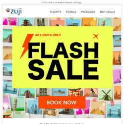[Zuji] BQ.sg: Invitation from ZUJI! Flight FLASH SALE – 48-hour only!!