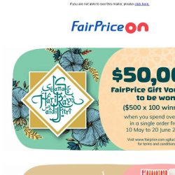 [Fairprice] Fill your cart with our Hari Raya specials