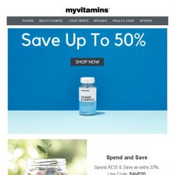 [MyVitamins] Save up to 50% off myvitamins
