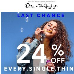 [Miss Selfridge] LAST CALL FOR 24% OFF 💕