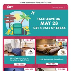[Fave] Take Leave On May 28 & Make It A 4-Day Weekend