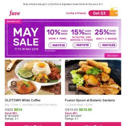 [Fave] 10% Cashback at Old Town, Fusion Spoon & more!