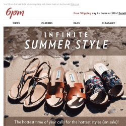 [6pm] Sizzling Summer Deals: Sandals, Swim & Sunglasses!