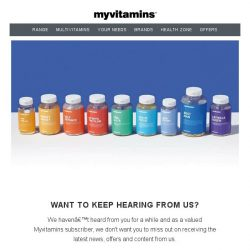 [MyVitamins] Want to keep hearing from us?