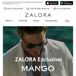 [Zalora] ZALORA Exclusive: MANGO Man