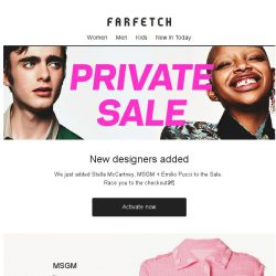 [Farfetch] New to Private Sale: MSGM, Stella McCartney and Emilio Pucci