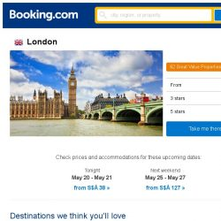[Booking.com] Deals in London from S$ 72
