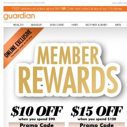 [Guardian] ⏰ 2 Days Only! $10 & $15 OFF Promo Codes inside!