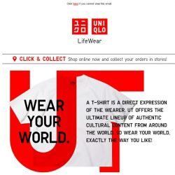 [UNIQLO Singapore] Missing the weekend already?