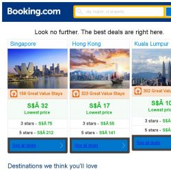 [Booking.com] Singapore, Hong Kong and Kuala Lumpur -- great last-minute deals as low as S$ 10!