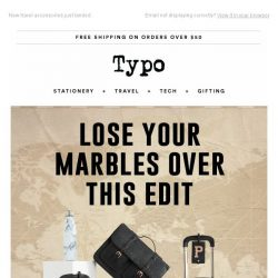 [typo] Lose your marbles with a $20 gift card!