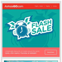 [AirAsiaGo] ⌚ Flash Tuesday Special | Enjoy discounts up to 50% off! ⌚