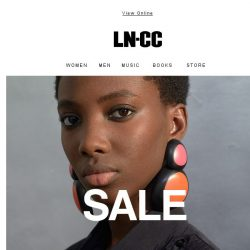 [LN-CC] SALE STARTS NOW: up to 40% off SS18