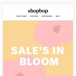 [Shopbop] 1000s of warm-weather styles now on SALE!