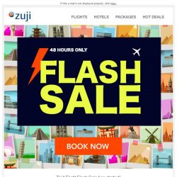 [Zuji] BQ.sg: ⚡48-HOUR - Flight Flash Sale fr $83⚡