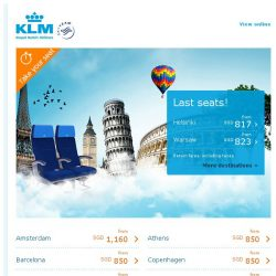 [KLM] Take your seat for Europe from SGD 817