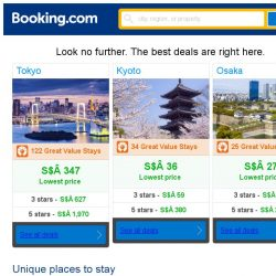 [Booking.com] Tokyo, Kyoto, or Osaka? Get great deals, wherever you want to go