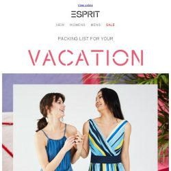 [Esprit] Top 5 picks for your holiday packing list