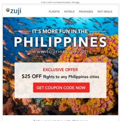 [Zuji] BQ.sg: Mabuhay! $25 OFF flights to Philippines